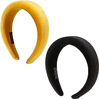 Folora 2 uds diademas de terciopelo acolchadas moda terciopelo grueso 90s accesorios para el cabello diadema ancha para…