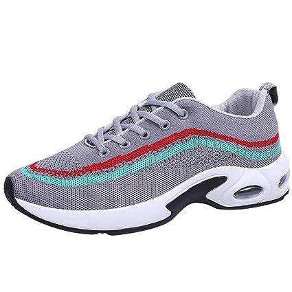 Fuxitoggo Zapatillas de correr para hombre, zapatillas de deporte Zapatillas de deporte Zapatillas con cordones