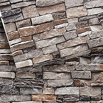 brick wallpaper 3d stone textured removable and