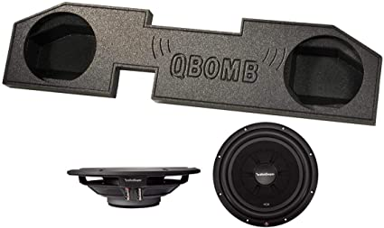 Amazon Com 2 Rockford Fosgate R2sd4 12 12 1000w Subwoofers Dodge Ram Quad Cab Sub Box Car Electronics