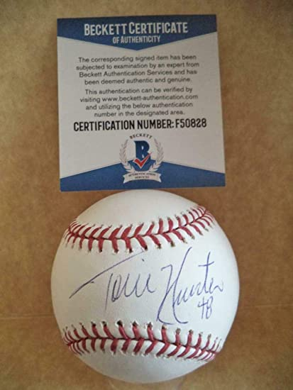 f8a25efef Torii Hunter Signed Ball - #48 Tigers M l Beckett F50828 - Beckett  Authentication - Autographed Baseballs at Amazon's Sports Collectibles Store