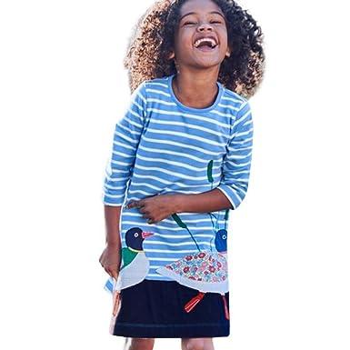 K-youth® Vestido Niñas, Elegante Ropa Bebe Niña Linda Vestido de Princesa Manga Larga Impresión Sport Vestido para Niñas Vestidos Bebe Niña Primavera ...