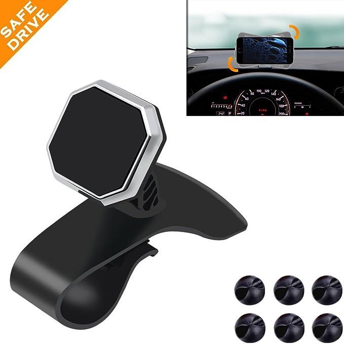 Soportes de coche teléfono móvil soporte para coche, tablero magnético, HUD diseño conducción segura