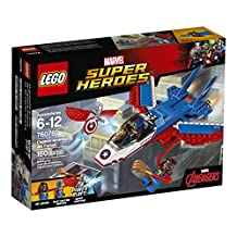 LEGO Super Heroes Captain America Jet Pursuit 76076 Building Kit, 160 Pieces