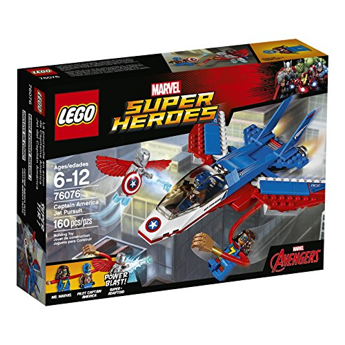 Captain+America Products : LEGO Super Heroes Captain America Jet Pursuit 76076 Building Kit (160 Pieces)