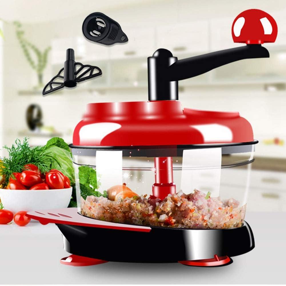 2 L alta capacidad multi-función de cocina procesador de alimentos manual carne Picadoras vegetal Trituradoras cortador huevo: Amazon.es: Hogar