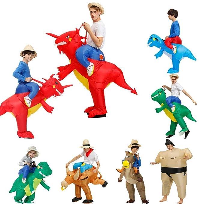 Amazon.com: Youandmes traje de dinosaurio inflable para ...
