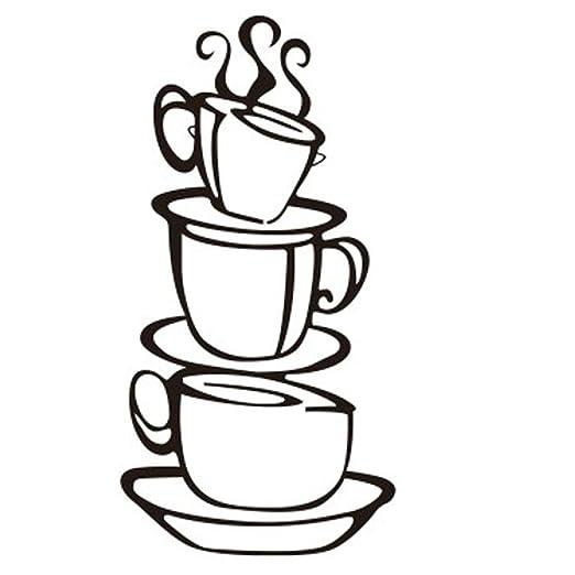 Amazon Com Photno Removable Diy Kitchen Decor Coffee House Cup