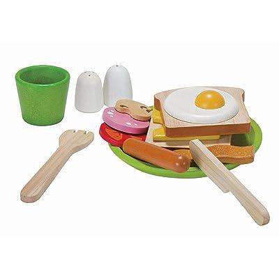 PLAN TOYS Activity Breakfast Menu Playset: Toys & Games