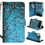 HTC Desire 630 Case, HTC Desire 530 Case - Customerfirst - Wallet Flip Fold Pouch Cover Premium Leather Wallet Flip Case for HTC Desire 630 / 530 FREE Emoji Key Chain and stylus (Blossom Teal)