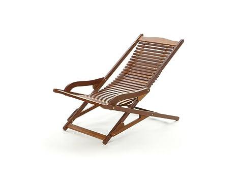 Sedie A Sdraio In Legno : Sdraio vip relax acacia amazon giardino e giardinaggio