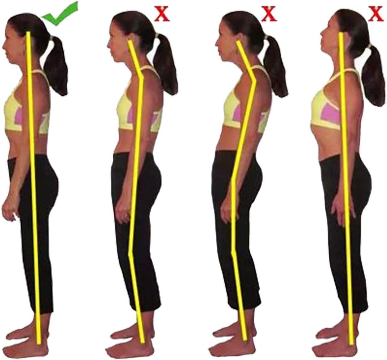 S R/éduire Les Douleurs Lombaires Correction de Posture Noire pour Les Hommes et Les Femmes sous Les V/êtements Tour de Taille:70-85cm Redresser La Colonne Vert/ébrale par ZSZBACE