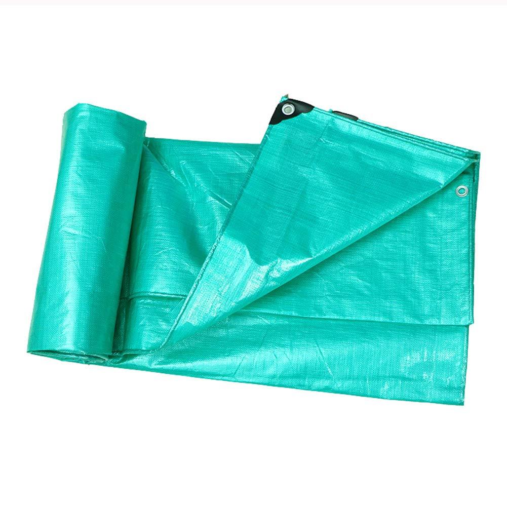Hyzb Verdickte regensichere Plane mit perforierter Plastikwasserschutzplane Sonnenschutzmarkise Markise - 180g   m2, grün (größe   3m x 4m) B07PG795ZY Zeltplanen Schöne Farbe