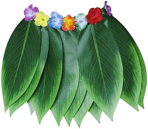 Guajave Falda de hojas artificiales hawaianas, falda hula de ...
