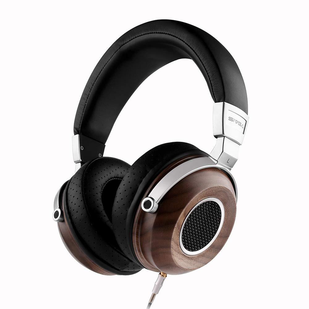 Auriculares SIVGA SV004 Hi-Fi Wood Over-Ear Stereo Open Back Con Cable Passive Noise Cancelling Microfono Incorporado So