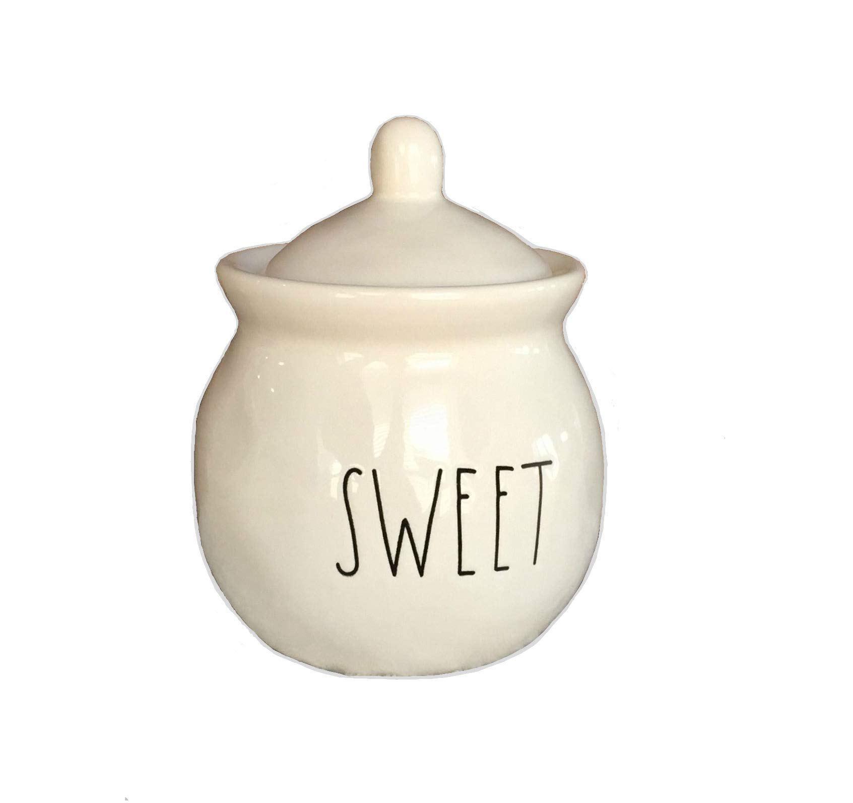 Rae Dunn Ceramic Sugar Pot Bowl Large Letter Sweet