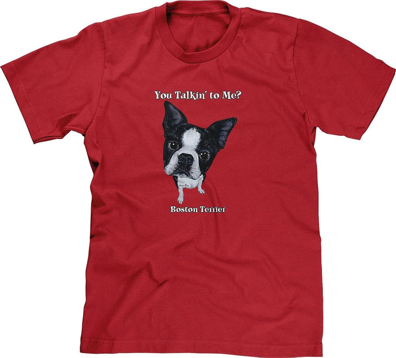 Blittzen Mens T-shirt You Talkin To Me - Boston Terrier