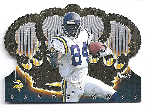 Randy Moss Collectibles (RANDY MOSS 1998 Crown Royale #75 Die Cut Rookie Card RC Minnesota Vikings Football)