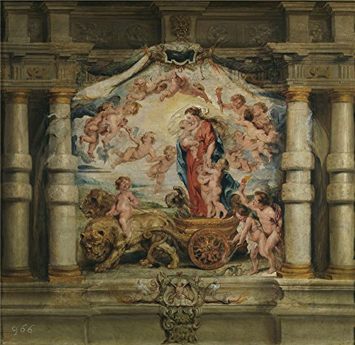 Polyster Canvas ,the Replica Art DecorativePrints On Canvas Of Oil Painting 'Rubens Peter Paul Triunfo Del Amor Divino 1625 26 ', 10 X 10 Inch / 25 X 26 Cm Is Best For Nursery Decor And Home Decoration And (Divine Lace Dress)