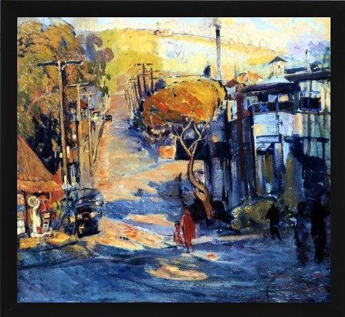 "Art Oyster Joseph Kleitsch Park Avenue- Old Laguna - 16.05"" x 16.05"" Premium Canvas Print with Black Frame"
