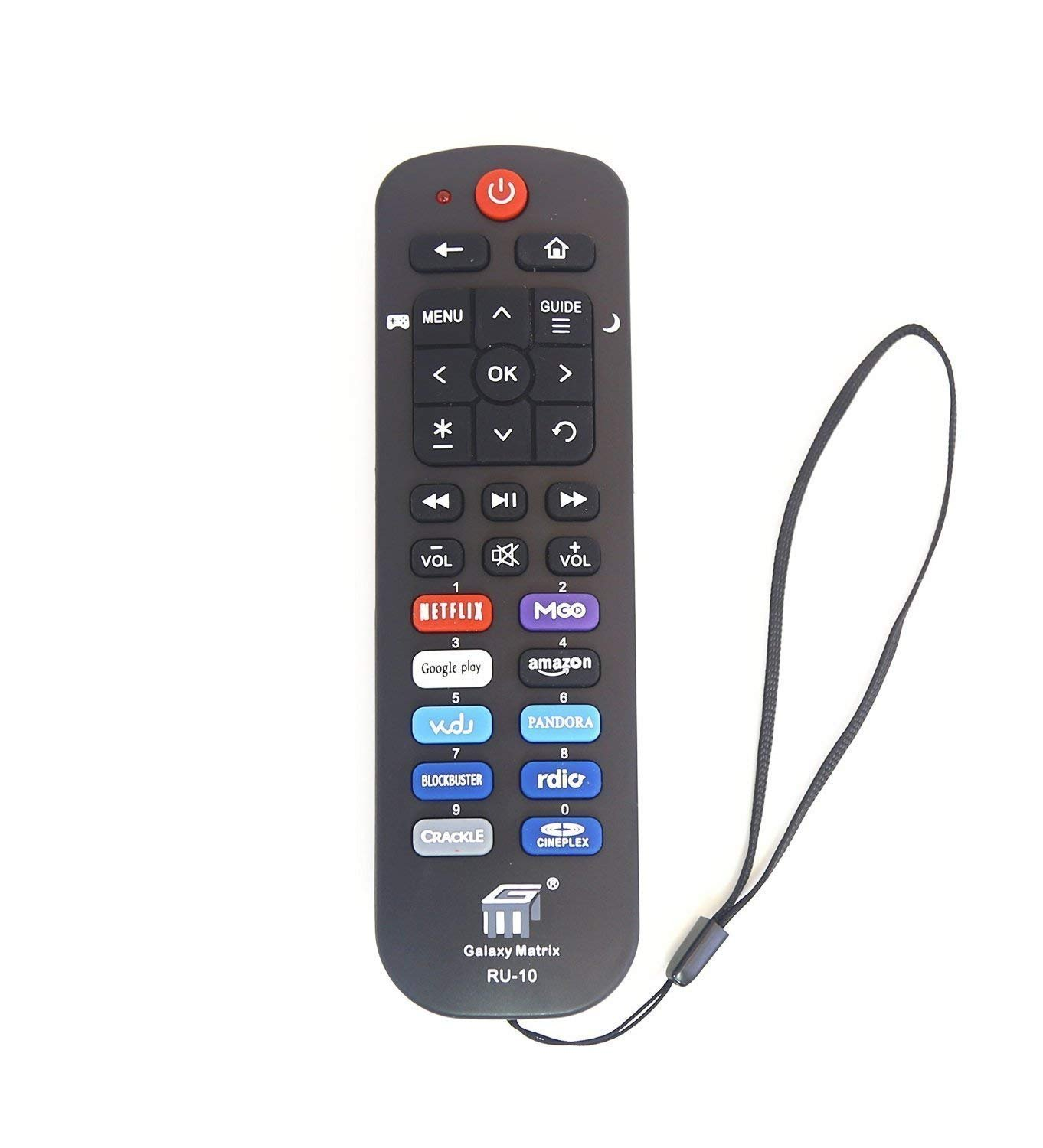 New RU10 Replacement Remote fit for TCL Roku TV RC280 with Netflix Google  Amazon Key 55UP120 32S4610R 50FS3750 32FS3700 32FS4610R 32S800 32S850