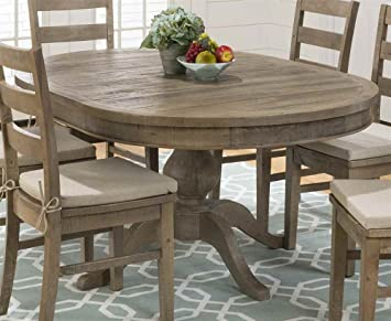 Amazon.com - Round To Oval Dining Table in Brown - Tables