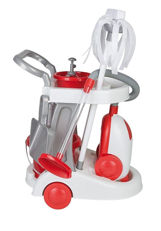 6 opinioni per Idena 4760004- Carrello delle pulizie giocattolo, con aspirapolvere, accessori,