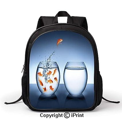 Amazon com: Lady Custom School Bag Little Brave Goldfish