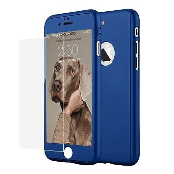 Funda iPhone 5 5s SE 360 Grados Integral Para Ambas Caras + Protector de Pantalla de Vidrio Templado,[ 360 ° ] [ Armada ] Case / Cover / Carcasa ...
