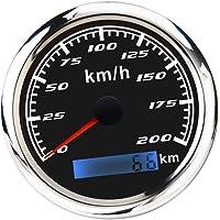 D DOLITY Universal Digital GPS Speedometer Odometer 200 MPH for Car Boat with Backlight 3-3/8'' (85mm) 12V/24V - Black