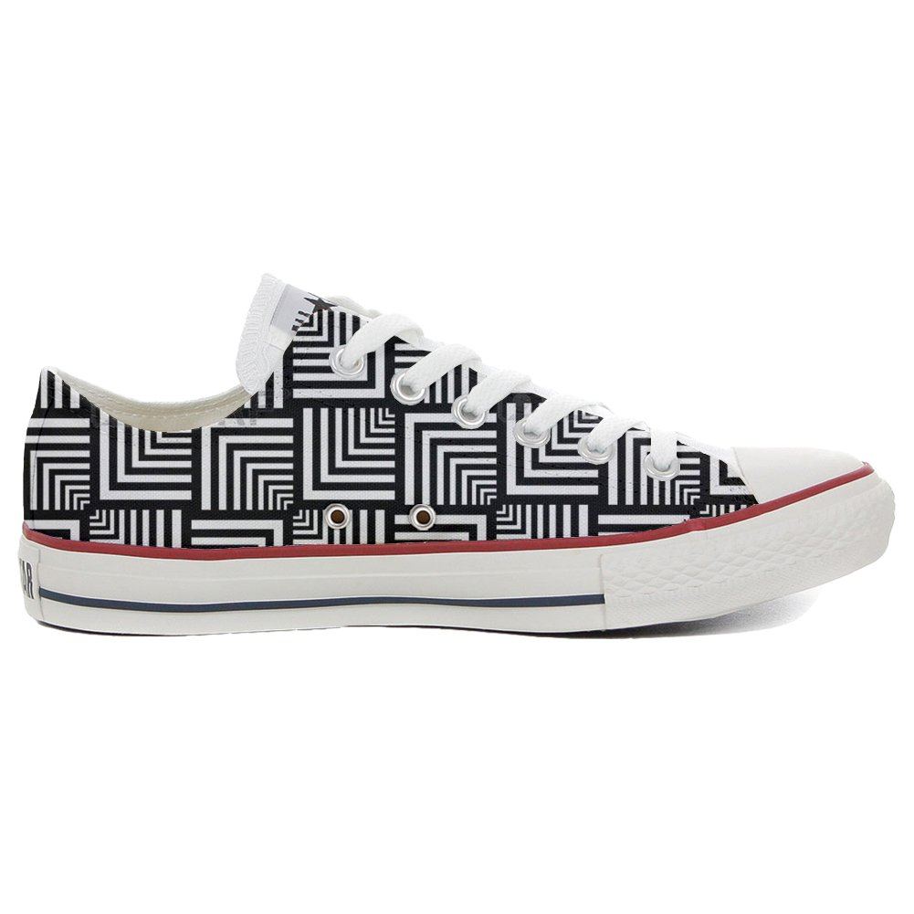 Converse All Star Slim personalisierte Schuhe (Handwerk Produkt) Geometric  44 EU
