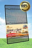 Premium 10 X 18 Inches Full Size Cross Grid Wire Cooling Rack for Baking - FDA Approved - Easy to Cool Cakes , Cookies & Cup Cakes - Best Quality Rack for Better Baking Results - Smooth Finish, High Elevation for Fast Cooling - Oven & Dishwasher Safe - Li