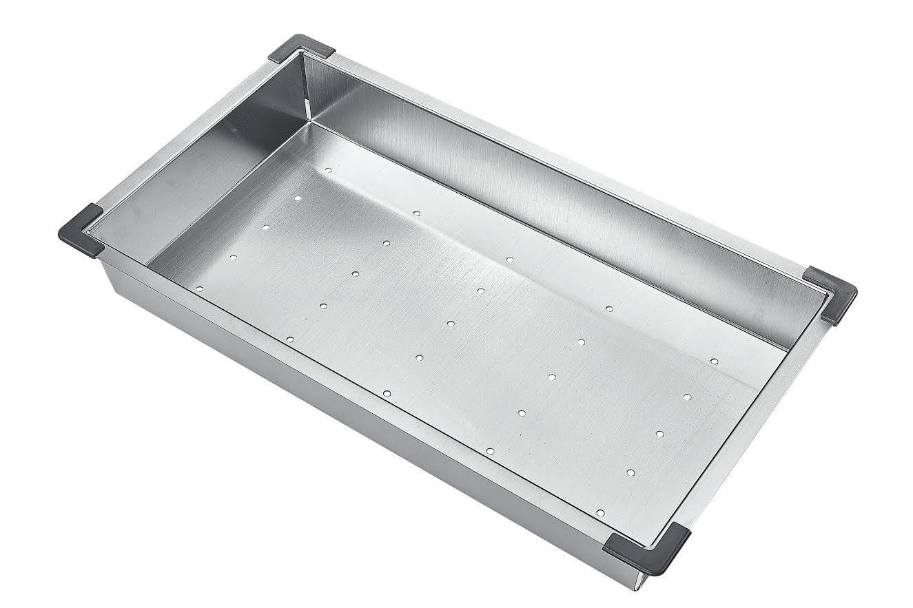 Starstar 18'' Stainless Steel Colander For Kitchen Sink