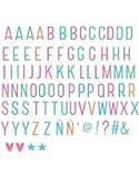 A little lovely Company - Ergänzungsset Pastel Buchstaben - Lightbox letter set - für alle Leuchtkästen - Inhalt: 85 Stück