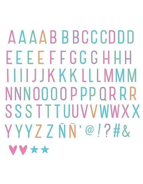 A Little Lovely Company LTLE005 - Letras y símbolos para Lightbox, Color Pastel