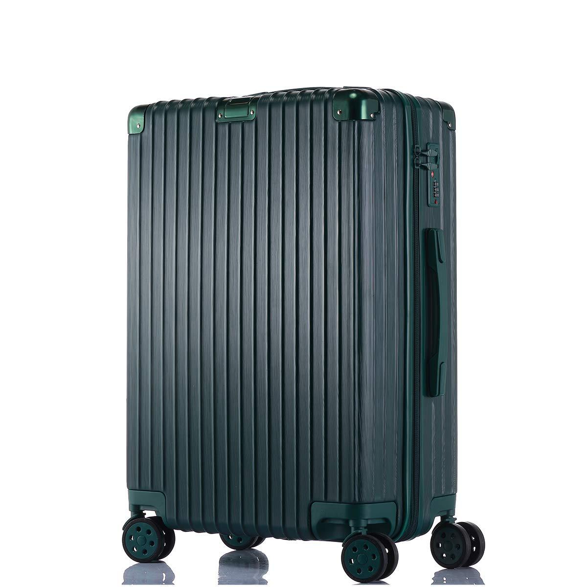 MRXUE 軽量28インチ荷物セット スピナーホイール付き 拡張可能な折りたたみ式スーツケース トートハードシェル ビジネス旅行かばん B07KPCLDGP グリーン 20\