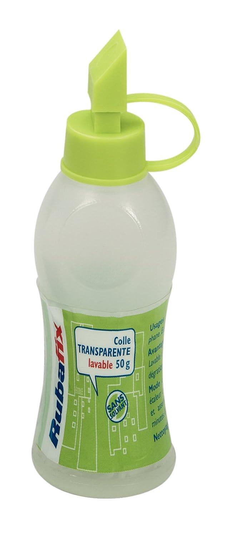 Rubafix 858000 Flacon de Colle 50 g/Carte - Transparent