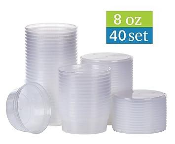 Amazoncom TashiBox 8 oz plastic food storage containers with