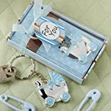 Blue baby carriage design key chains [SET OF 24] by Fashioncraft