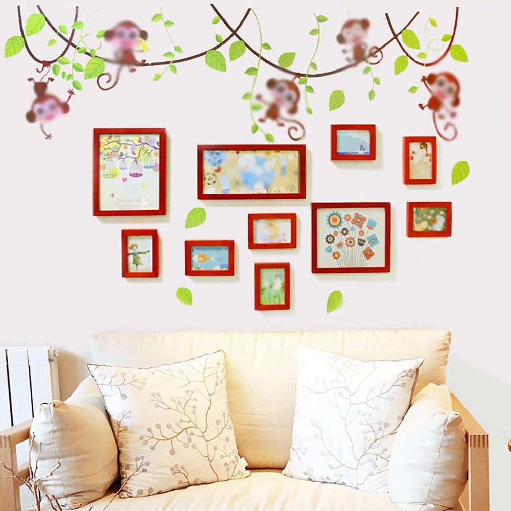 G-Y Fotowand, Europäischen Stil Massivholz Wohnzimmer Schlafzimmer ...