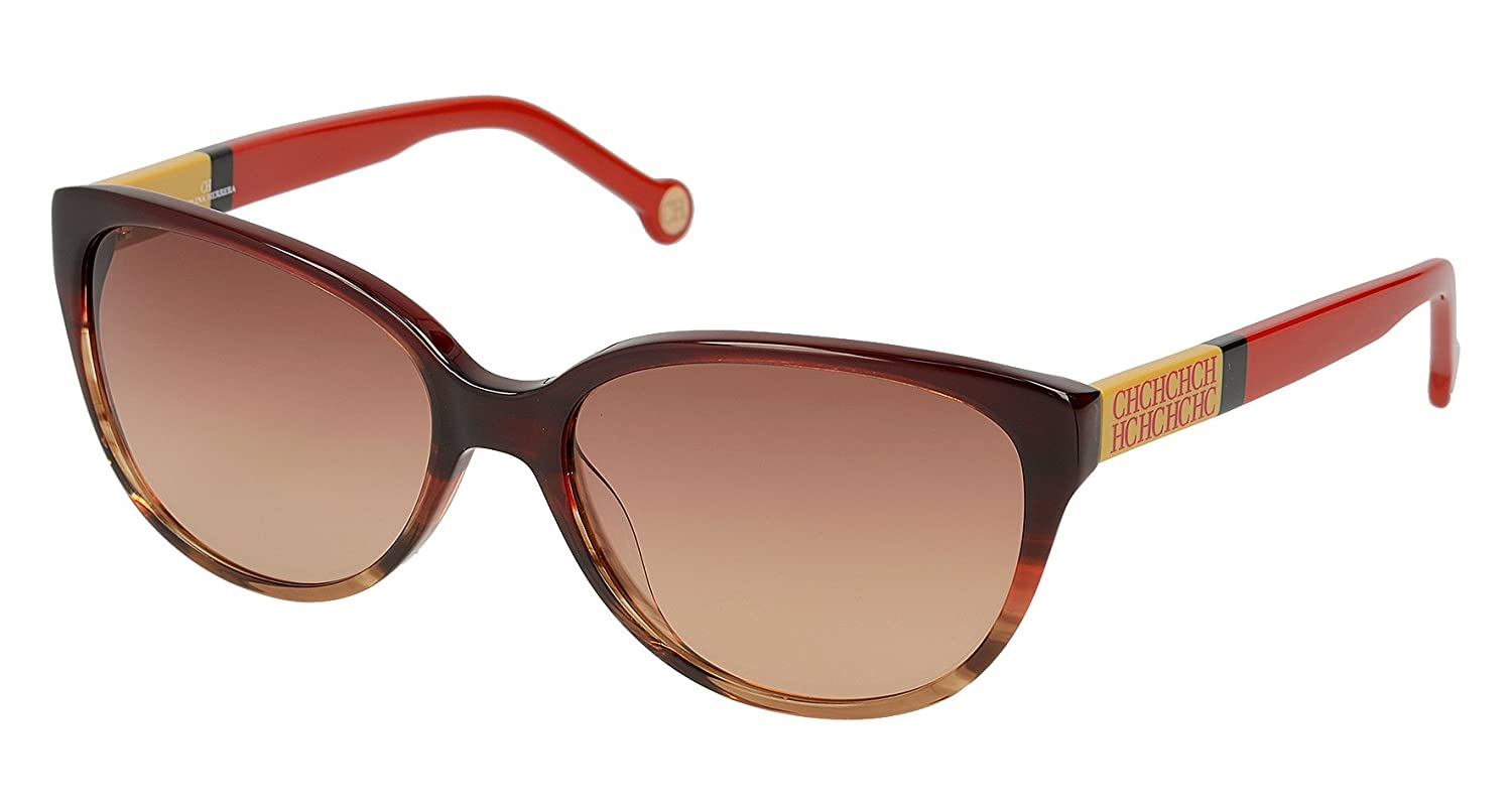 Carolina Herrera Women' 's SHE572570ACL Sunglasses, Red (Rojo), 57 She572 570acl