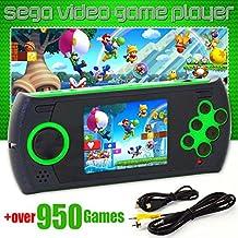Handheld Gaming Console with 1000 Genesis Mega Drive Sega Genesis Megadrive Games Green