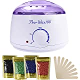 Ausale Wax Warmer Heater, Portable Electric Hair Removal Kit for Facial &Bikini Area& Armpit-- Melting Pot Hot Wax…
