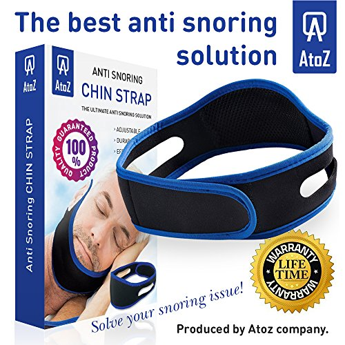 AtoZ Anti snoring chin strap, Best stop snoring device, adjustable snore reduction belt, sleep aids chin strips, New Anti-Snoring belt for Men Women, snoring solution, jaw support, apnea snore stopper