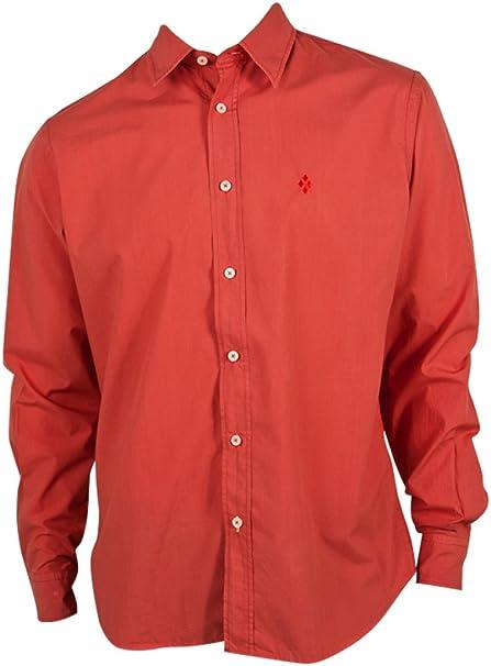 BURLINGTON-Camisa para hombre, diseño de ladrillo, color azul rojo L: Amazon.es: Ropa y accesorios