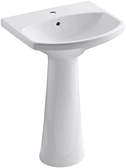 KOHLER K 2362 1 0 Cimarron Pedestal Bathroom Sink With Single Hole