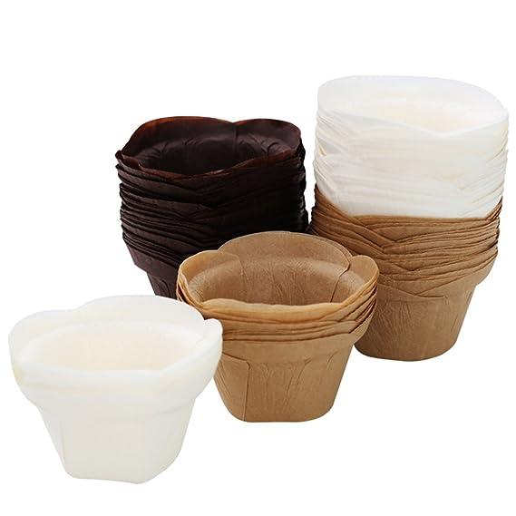 Amazon.com: Moldes para magdalenas (50 unidades), color ...