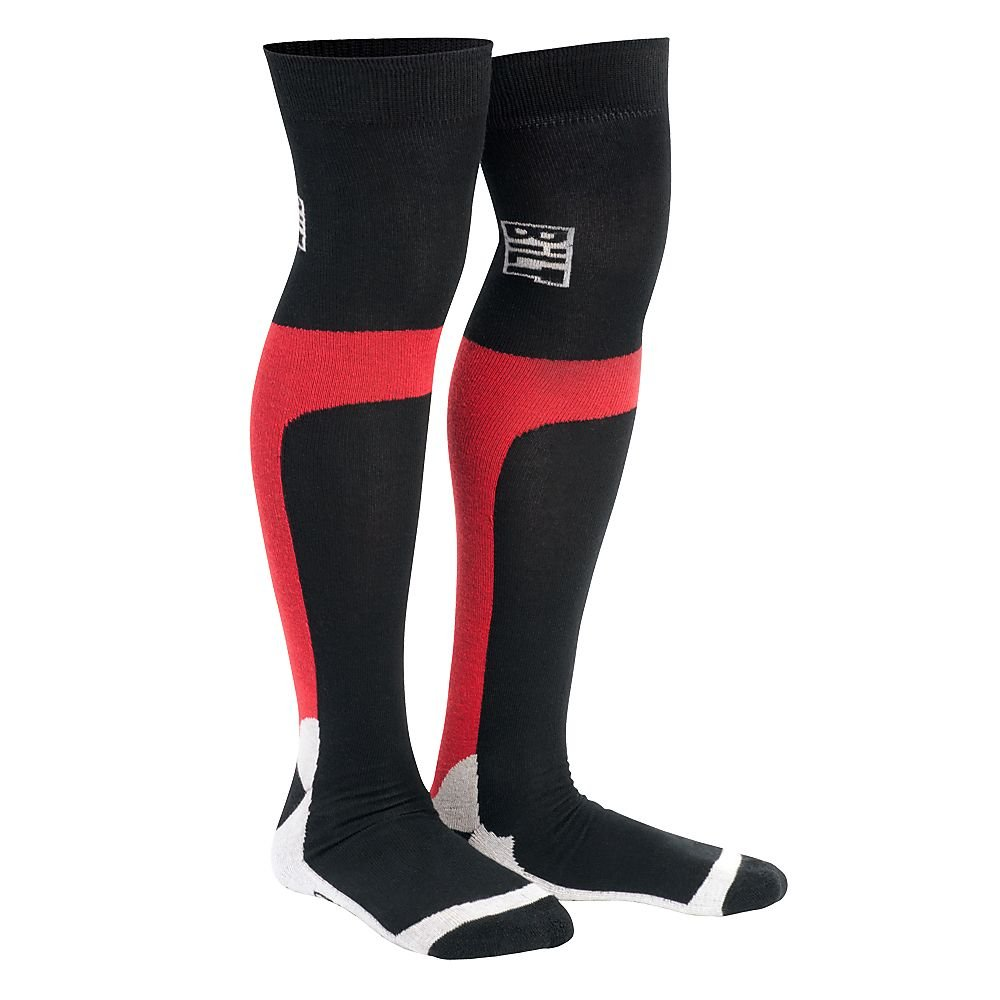 BILT Pro Moto Socks Long - One Size, Red by Bilt (Image #1)