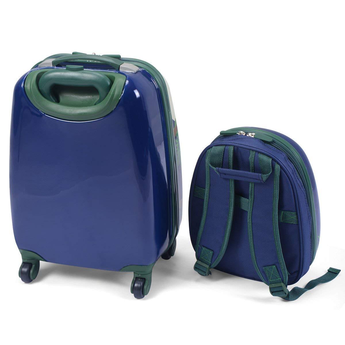 YEXIN 12 16 2PC Enfants Bagages Set Valise Sac /À Dos /École Voyage Cabine Trolley ABS