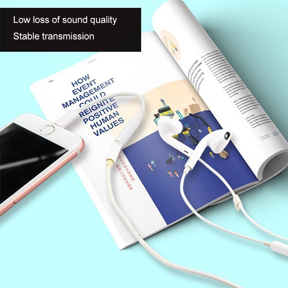 Iphone Headphone Adapter 2 Pack Compatible with Iphone 8//8Plus//7//7Plus//X//XS//Max//XR Adapter Headphone Jack To 3.5 mm Iphone Headphone Adapter Jack Compatible with iOS 11//12 Not Bluetooth